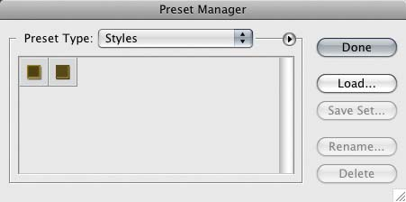 Preset Manager photoshop scrapbooking