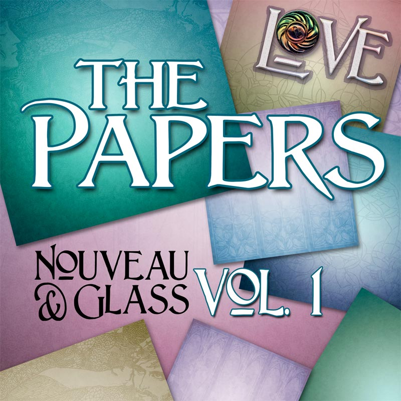 Digital Scrapbooking Kits - Nouveau & Glass Volume 1