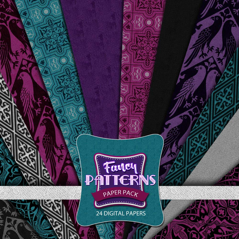 Digital Scrapbooking Papers - Fancy Patterns