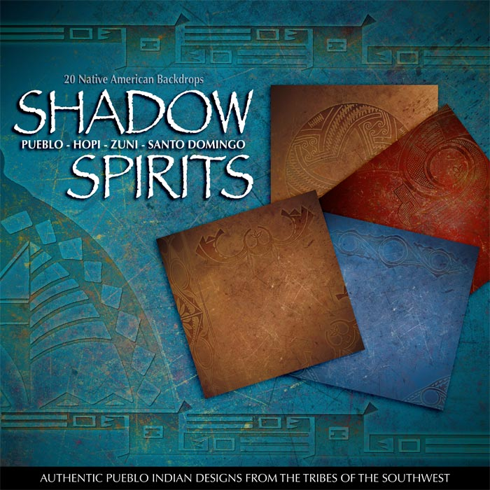 Digital Scrapbooking Papers - Shadow Spirits Native American
