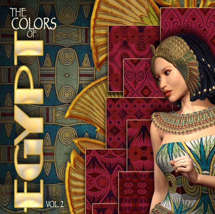 Digital 3D Texture Set - Colors of Egypt Volume 2