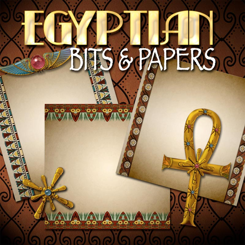 Digital Scrapbooking Kits - Egyptian Bits