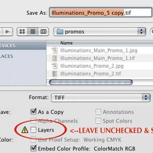Flattening Files for Scrapbooking