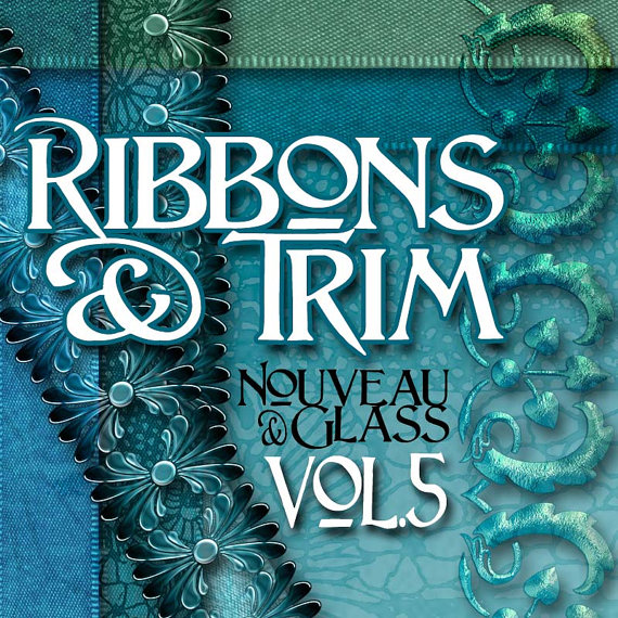 Digital Scrapbooking Kits - Nouveau & Glass Volume 5