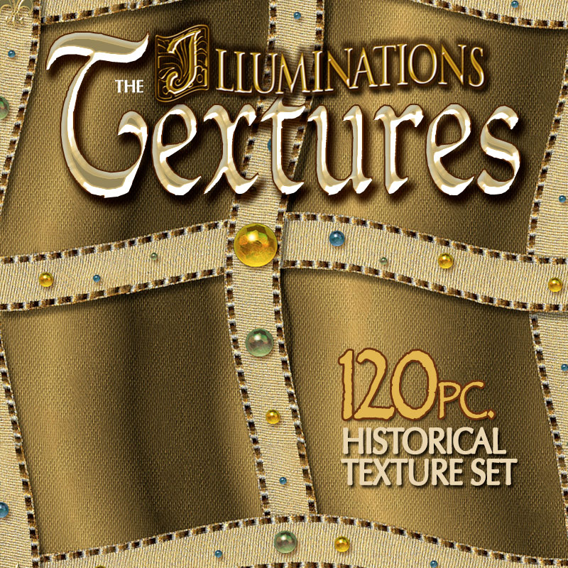 Digital 3D Texture Set - Illuminations Medieval Renaissance