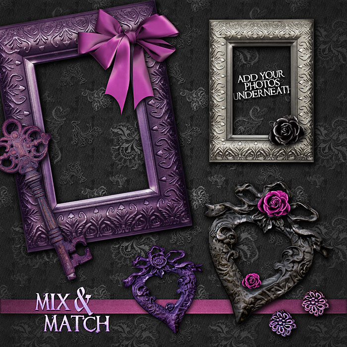 Digital Scrapbook Kits Halloween Gothic Halloween Content Bundle