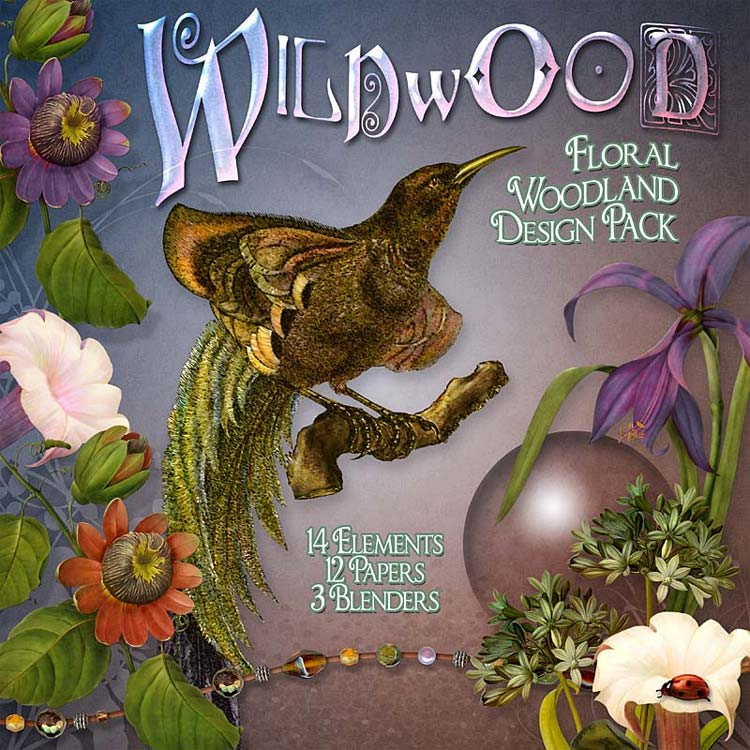 Digital Scrapbooking Kits - Wildwood Floral