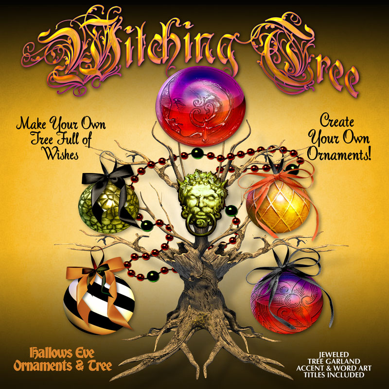 Digital Scrapbooking Kits - Witching Tree